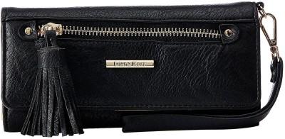 Diana Korr Women Black Artificial Leather Wallet(4 Card Slots)
