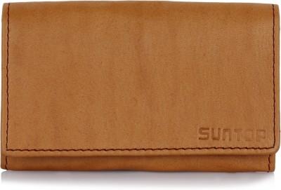 Suntop Men, Boys, Women, Girls Multicolor Genuine Leather Card Holder