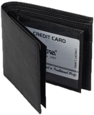 Nova Men Black Genuine Leather Wallet