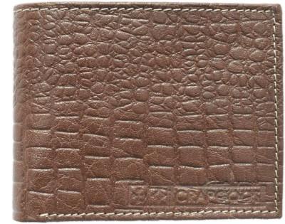Crapgoos Men, Boys Brown Genuine Leather Wallet