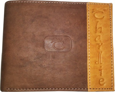 Charlie Men Casual Brown Genuine Leather Wallet