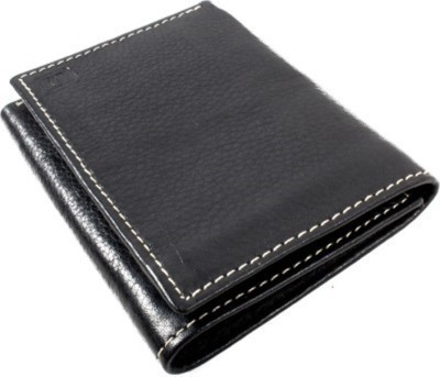Fashion Craft Men, Boys Black Genuine Leather Wallet