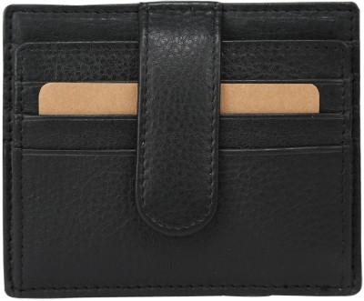 Hidegear Men Black Genuine Leather Card Holder