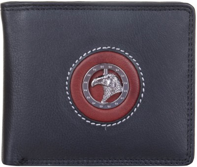 JAGADHARTI Men Black Genuine Leather Wallet