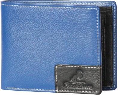 Black Horse Men, Women Casual, Formal Blue, Black Genuine Leather Wallet