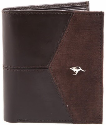 Kangoo Men Brown Genuine Leather Wallet