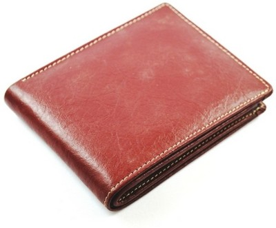 Imex International Men Maroon Genuine Leather Wallet