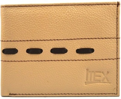 Imex International Men Beige, Brown Genuine Leather Wallet
