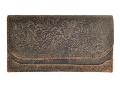 Hawai Women Tan Genuine Leather Wallet