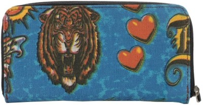 Spice Art Women Blue Canvas Wallet