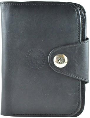 Allura Men, Boys, Girls, Women Black Genuine Leather Wallet