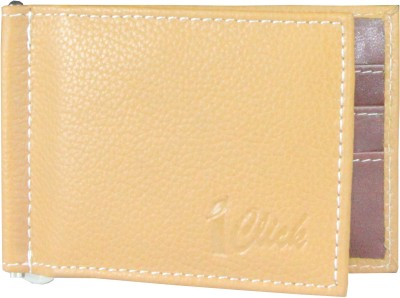 I Click Men, Women Casual, Formal Tan, Brown Genuine Leather Money Clip