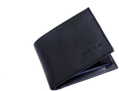 BAAZ Men Black Canvas Wallet(3 Card Slots)