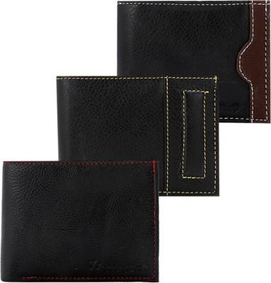 Elligator Men Formal Black Genuine Leather Wallet