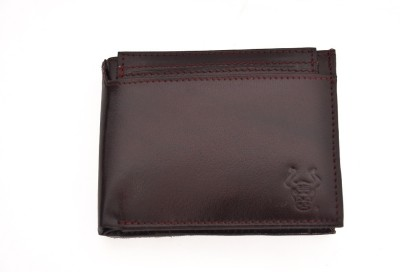 Bullstop Boys, Men Red Genuine Leather Wallet