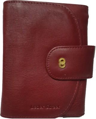 Leder Street Women Red Genuine Leather Wallet