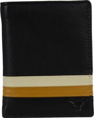 HIDEKRAFT Men Casual Black Genuine Leather Wallet