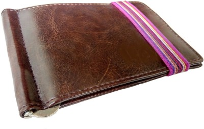 Justclickfashion Men, Boys Brown Genuine Leather Money Clip