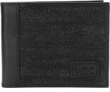 WAC Men Black Genuine Leather Wallet (6 ...