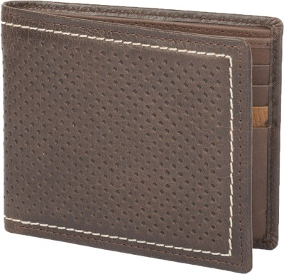 Chisel Men Brown Genuine Leather Wallet(8 Card Slots)