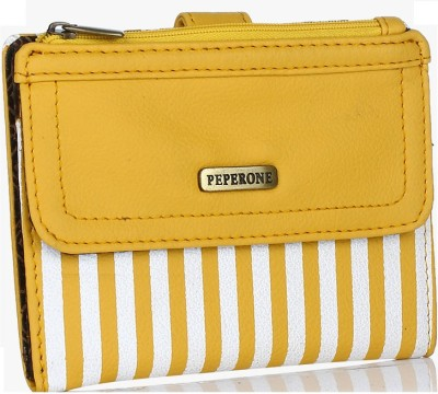 Peperone Women Yellow Artificial Leather Wallet