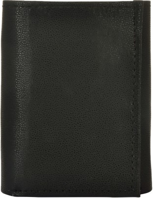 Exotique Men Black Artificial Leather Wallet(4 Card Slots)