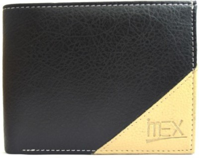 Imex International Men Black Artificial Leather Wallet(5 Card Slots)
