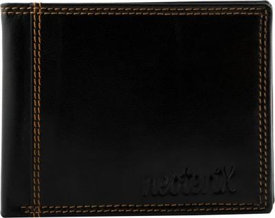 Neoterix Men Black Genuine Leather Wallet(7 Card Slots)