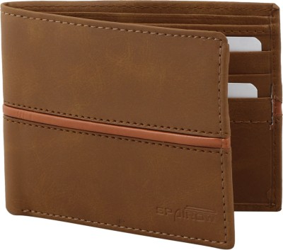 Spairow Men Tan Artificial Leather Wallet(6 Card Slots)