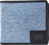 Le Craf Men Blue Canvas Wallet (3 Card S...