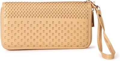 Diana Korr Women, Girls Gold Artificial Leather Wallet