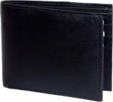 Ruff Men Black Genuine Leather Wallet (8...