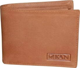 Style 98 Men Tan Genuine Leather Wallet(4 Card Slots)