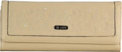 Lavie Women Beige Artificial Leather Wallet(5 Card Slots)