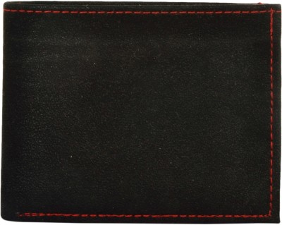 Exotique Men Black Artificial Leather Wallet(6 Card Slots)
