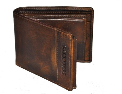 DHide Designs Men Brown Genuine Leather Wallet