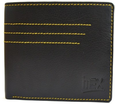 Imex International Men Black Genuine Leather Wallet(6 Card Slots)