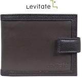 Levitate Men Brown Genuine Leather Walle...