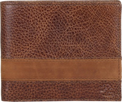 Walletsnbags Men Tan Genuine Leather Wallet(9 Card Slots)