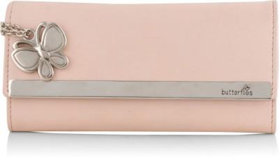 Butterflies Women Pink Artificial Leather Wallet