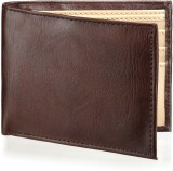 Arum Men Brown Genuine Leather Wallet (5...