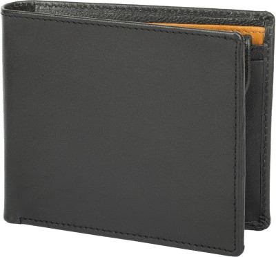Chisel Men Black Genuine Leather Wallet(5 Card Slots)