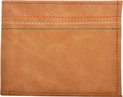 Exotique Men Tan Artificial Leather Wallet(5 Card Slots)
