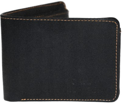 Miracle choice Men Black Artificial Leather Wallet(4 Card Slots)