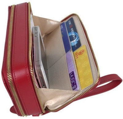 Rochel-Indian Men, Women Casual, Ethnic, Formal, Travel, Evening/Party Red Artificial Leather Wallet