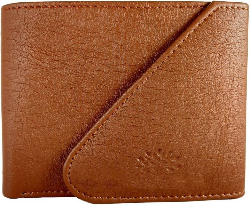 White Bear Men Tan Artificial Leather Wallet(3 Card Slots)