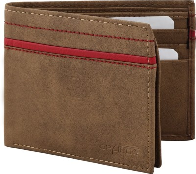Spairow Men Beige Artificial Leather Wallet(7 Card Slots)