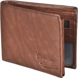 Classic Men Brown Genuine Leather Wallet...