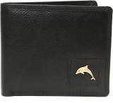 New Dolphin Men Black Genuine Leather Wa...