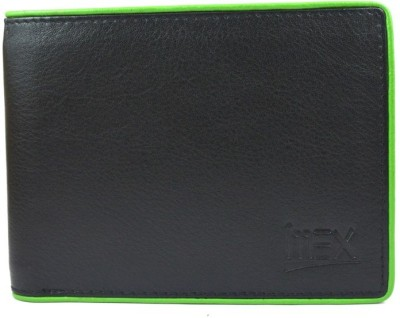 Imex International Men Black Genuine Leather Wallet(12 Card Slots)